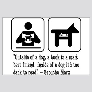 Book man's best friend Groucho Marx Large Poster