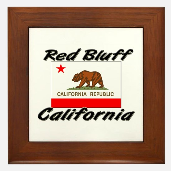 Red Bluff California Framed Tile