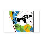 Design 160326 - Poppino Beat Rectangle Car Magnet