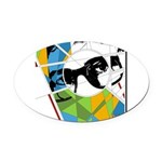 Design 160326 - Poppino Beat Oval Car Magnet
