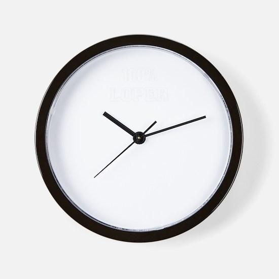 100% LOPER Wall Clock