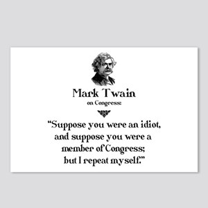 Mark Twain on Congress 1 Postcards (Package of 8)