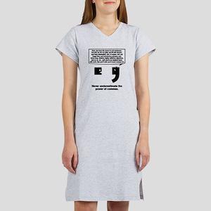 The Power of Commas Women's Nightshirt