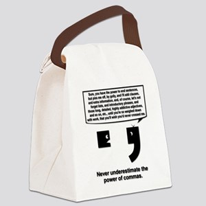 The Power of Commas Canvas Lunch Bag
