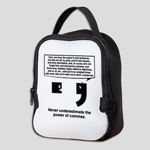 The Power of Commas Neoprene Lunch Bag