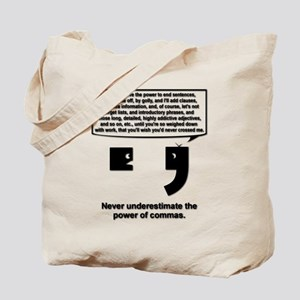 The Power of Commas Tote Bag