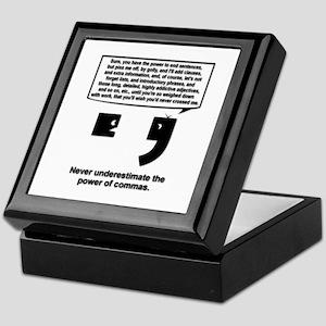 The Power of Commas Keepsake Box