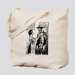 Evolution of English Tote Bag