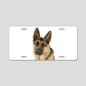 german shepherd Aluminum License Plate