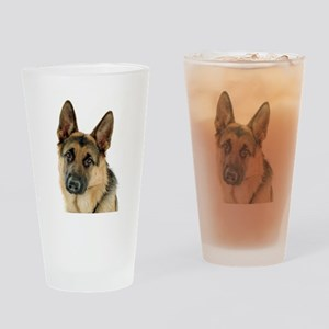 german shepherd Drinking Glass
