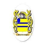 Scarborough Oval Car Magnet