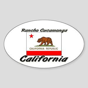 Rancho Cucamonga California Oval Sticker
