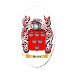 Scales Oval Car Magnet