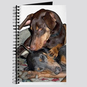 Red & Blue Doberman Journal