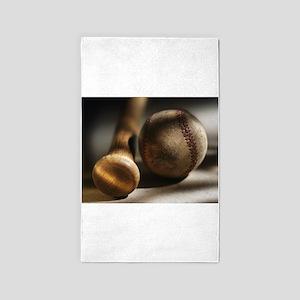 baseball vintage Area Rug