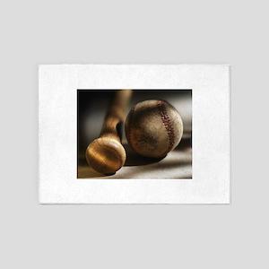 baseball vintage 5'x7'Area Rug