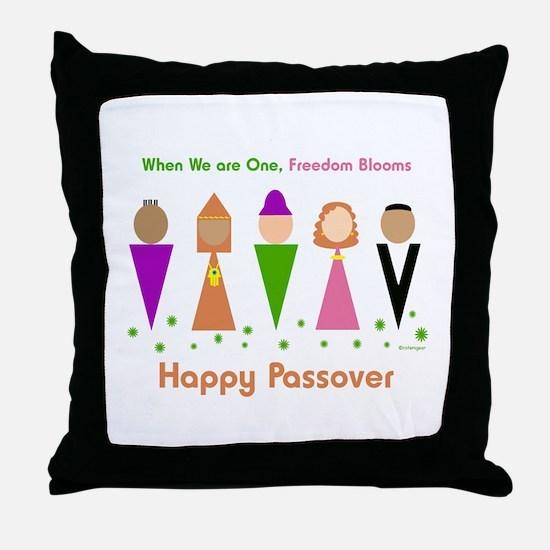 Jewish Diversity Passover Throw Pillow