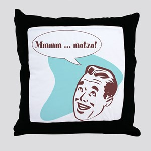 Retro Passover Matza Throw Pillow