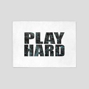 PLAY HARD 5'x7'Area Rug