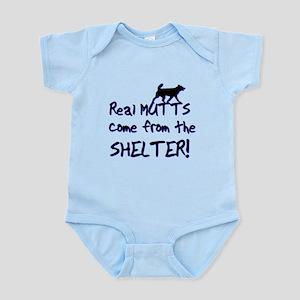 Real Mutts, shelter, pound, Infant Bodysuit