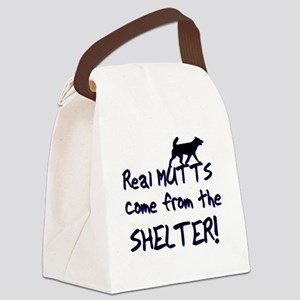 Real Mutts, shelter, pound, Canvas Lunch Bag