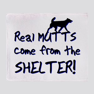 Real Mutts, shelter, pound, Throw Blanket