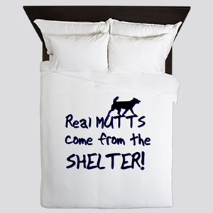 Real Mutts, shelter, pound, Queen Duvet cover