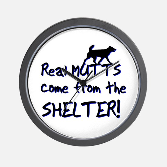 Real Mutts, shelter, pound, Wall Clock