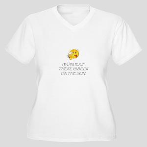 Beer on the Sun Women's Plus Size V-Neck T-Shirt
