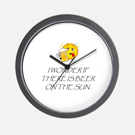 Beer on the Sun Wall Clock