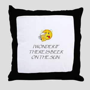 Beer on the Sun Throw Pillow