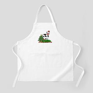 Christmas Cow BBQ Apron