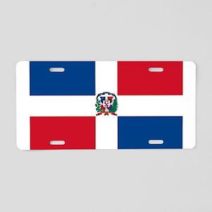 dominican-republic-flag-400 Aluminum License Plate