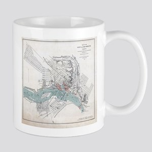 Vintage Map of Richmond Virginia (1864) Mugs