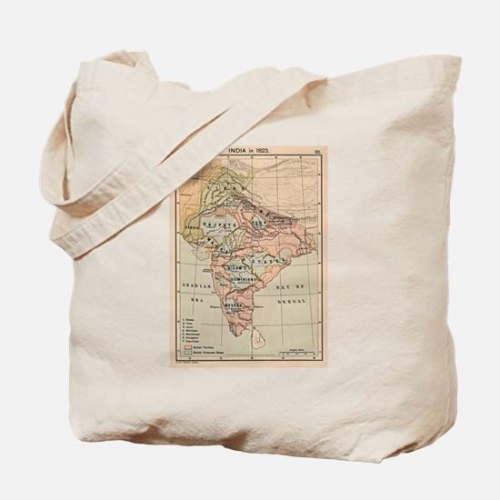 Vintage Map of India (1823) Tote Bag