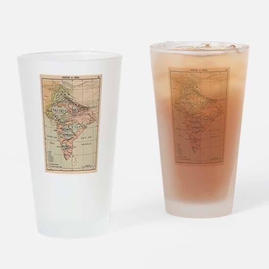 Vintage Map of India (1823) Drinking Glass