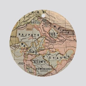 Vintage Map of India (1823) Round Ornament