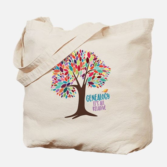 Cute Genealogy family tree Tote Bag