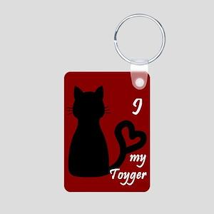 Toyger Cat Heart Keychain Keychains