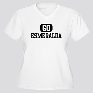 Go ESMERALDA Women's Plus Size V-Neck T-Shirt