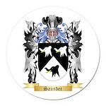 Saunder Round Car Magnet