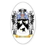 Saunder Sticker (Oval 50 pk)