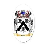 Saull Oval Car Magnet