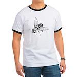 Honey Bee Insect Art Ringer T