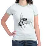 Honey Bee Insect Art Jr. Ringer T-Shirt