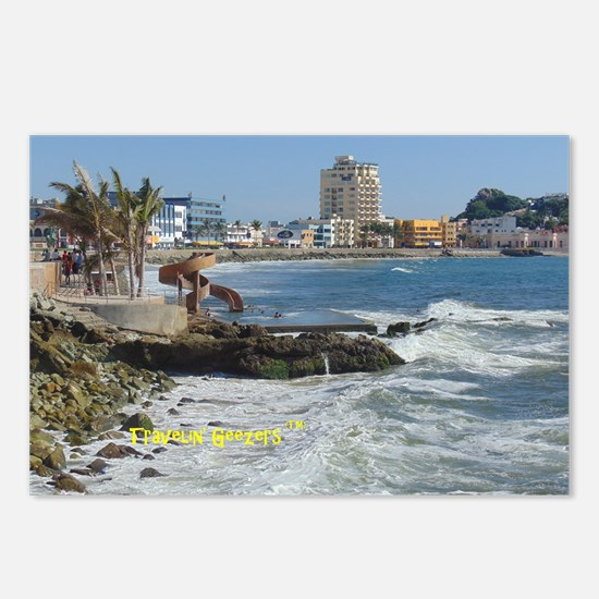Old Town Mazatlan, Mexico Postcards (Package of 8)