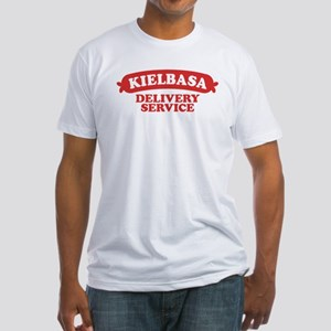 Funny Polish Kielbasa Fitted T-Shirt