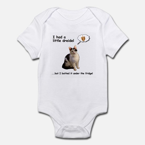 Hanukkah Dreidel Cat Baby Light Bodysuit