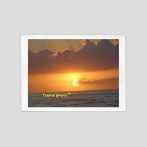 Sunset in Mazatlan 5'x7'Area Rug