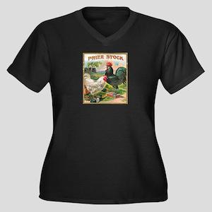 Vintage Chickens Plus Size T-Shirt